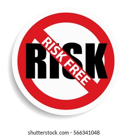 Risk free sign on white background.vector illustration