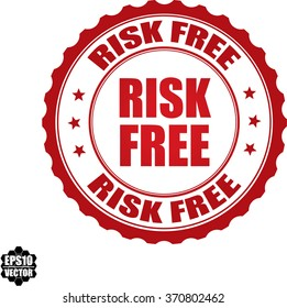 Risk free stamp.Vector.