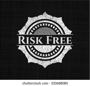 Risk Free written with chalkboard texture
