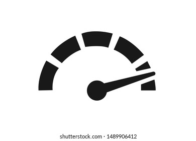 risk icon, speed meter icon
