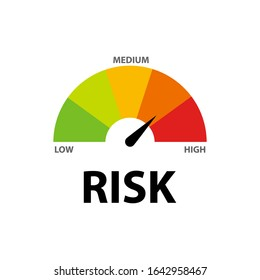 Risk icon speedometer flat style