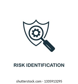Risk Identification icon. Creative element design from risk management icons collection. Pixel perfect Risk Identification icon for web design, apps, software, print usage