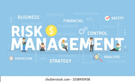 Risk management concept illustration. Idea of business and market.