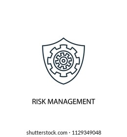 Risk management concept line icon. Simple element illustration. Risk management concept outline symbol design from Project management set. Can be used for web and mobile UI/UX