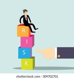 Risk management;Business concept-vector