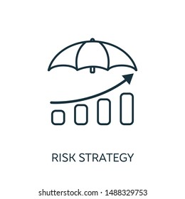 Risk Strategy outline icon. Thin line concept element from risk management icons collection. Creative Risk Strategy icon for mobile apps and web usage.