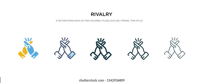 rivalry icon in different style vector illustration. two color and black rivalry vector icons designed in filled, outline, line and stroke style can be used for web, mobile, ui