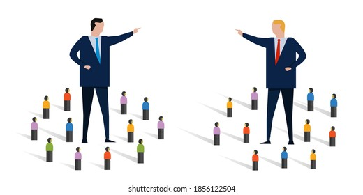 rivalry polarized confrontation between two leader politician divide the country create polarization