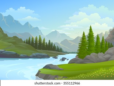 River flowing from the mountains
