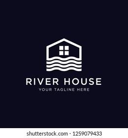 River House Logo Design Inspiration,  Vector Illustration
