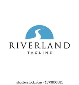 River Land Logo Design Template