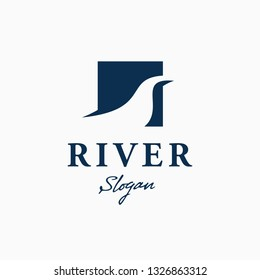 River Logo design Template