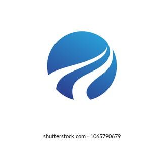 River  Logo Template vector icon illustration..