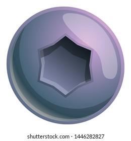 Rivet head vector icon. Cartoon illustration of rivet head vector icon for web design isolated on white background
