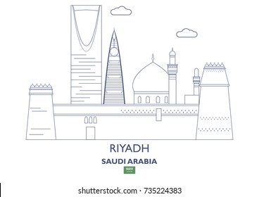 Riyadh Linear City Skyline, Saudi Arabia