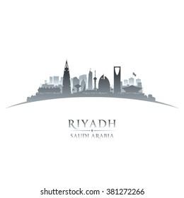 Riyadh Saudi Arabia city skyline silhouette. Vector illustration