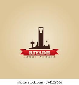Riyadh Saudi Arabia city symbol vector illustration