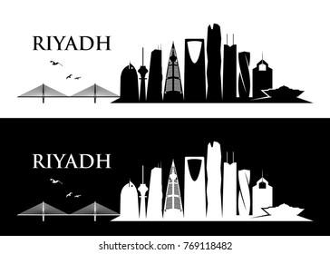 Riyadh skyline - Saudi Arabia - vector illustration