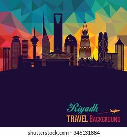 Riyadh skyline. Vector illustration