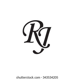 RJ Initial Monogram Logo