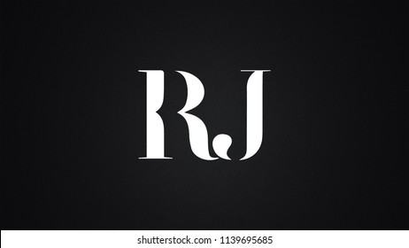 RJ Letter Logo Design Template Vector