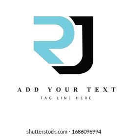 RJ logo design & illustration vector art for print