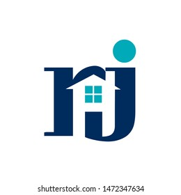 RJ logo, letter based, property icon