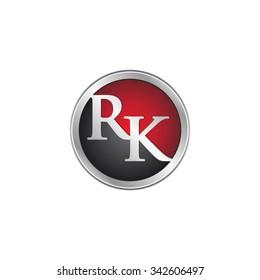 RK initial circle logo red