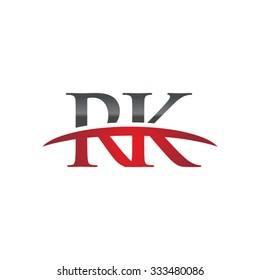 RK initial company red swoosh logo