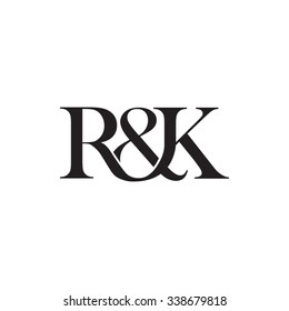 R&K Initial logo. Ampersand monogram logo