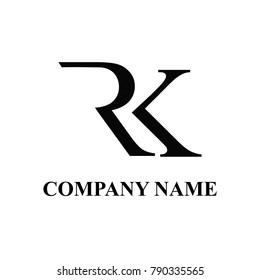 Rk initial logo design