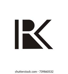 RK or KR logo initial letter design template vector