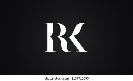 RK Letter Logo Design Template Vector