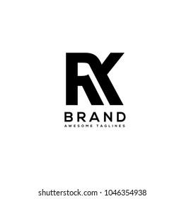 RK letter monogram logo
