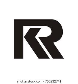 RK logo or KR logo initial letter design template vector