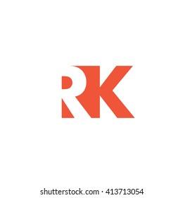 RK Logo. Vector Graphic Branding Letter Element. White Background