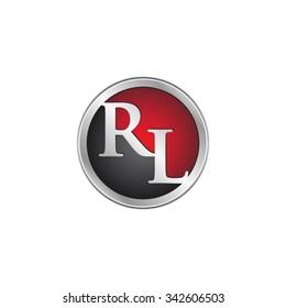 RL initial circle logo red