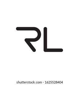 RL initial letter logo template vector icon design