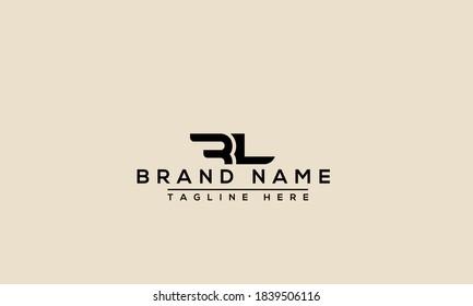 RL Logo Design Template Vector Graphic Branding Element.