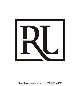 RL logo initial letter design template vector