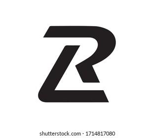 RL LR letter logo design vector