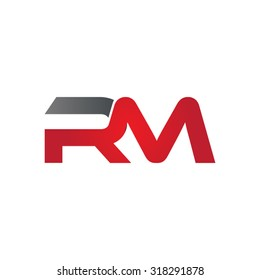RM company group linked letter logo