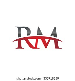 RM initial company red swoosh logo