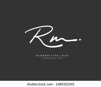 rm logo images stock photos vectors shutterstock https www shutterstock com image vector rm initial handwriting handwritten logo identity 1489202345