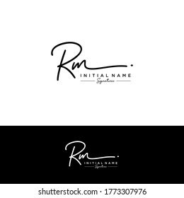 RM Initial letter handwriting and signature logo.