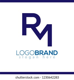 RM initial letter logo vector element. initial letter logo template