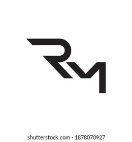 rm initial letter vector logo