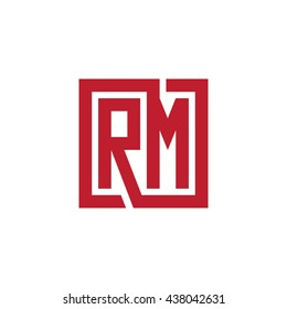 RM initial letters looping linked square logo red