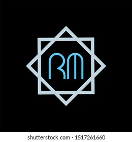 RM Letter monogram with abstrac concept style design