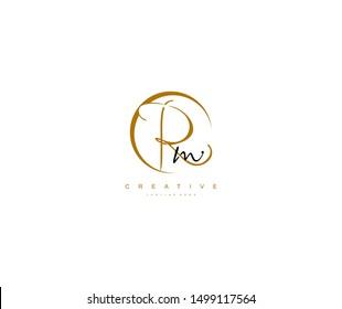 Rm letter Stylized Circle Shape Signature Monogram Elegant Logo